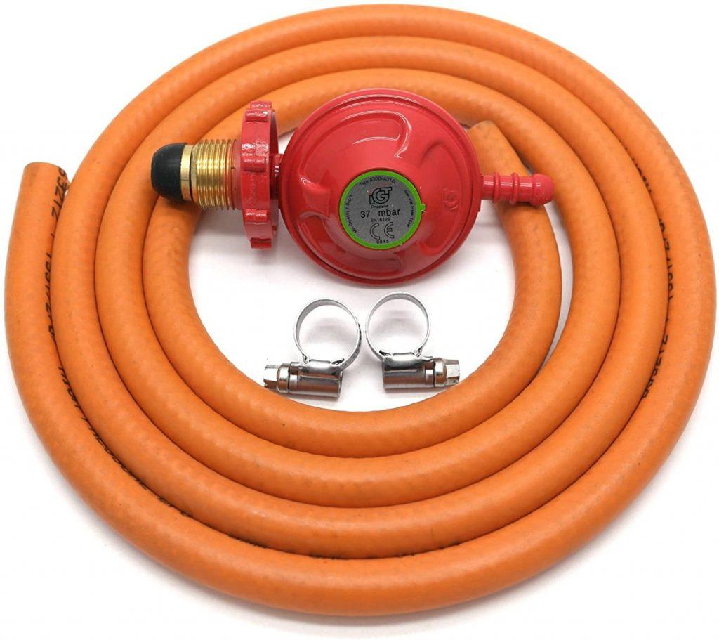 Propane gas regulator hose set